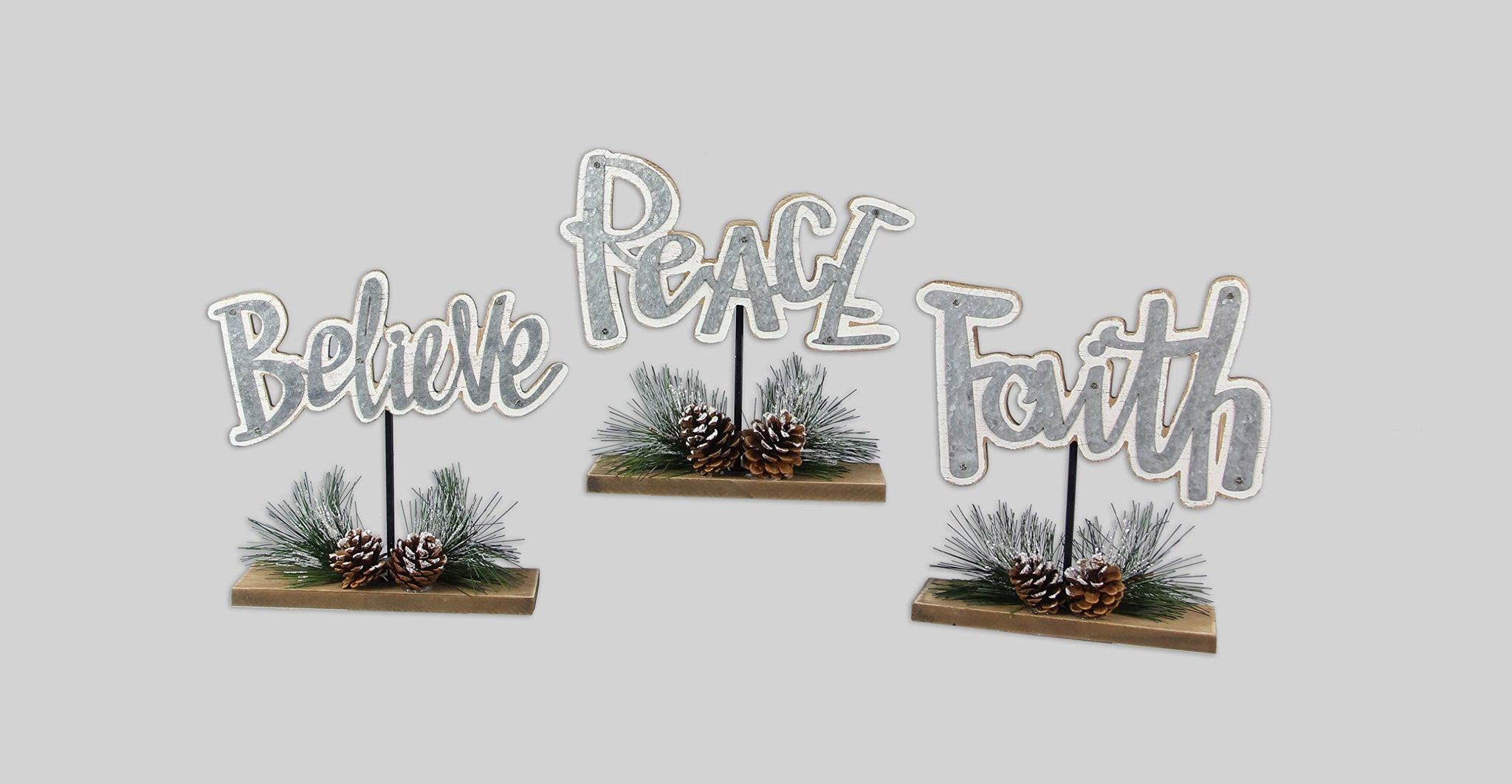 youngs Wood/Metal Cutout Tabletop Sign