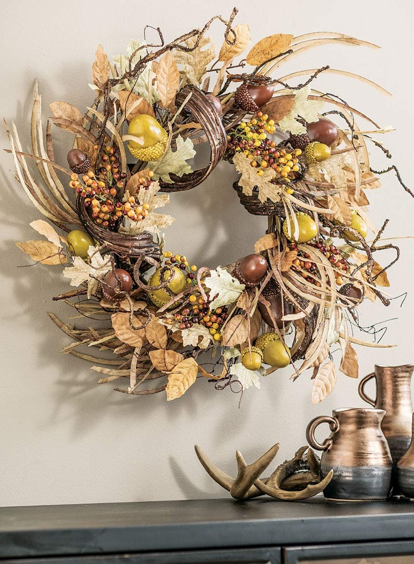 Sullivans Artificial Autumn Acorn and Foliage Wreath
