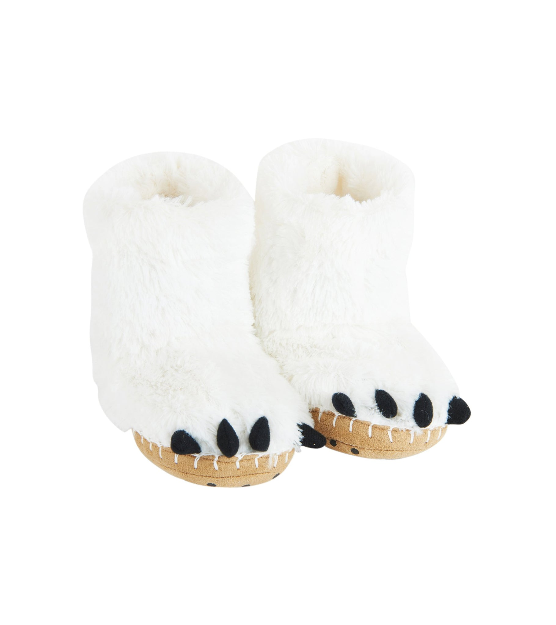 Little Blue House by Hatley Kids' Toddler Hi-top Slouch Animal Slipper, Polar Bear Paws, Small (5-7)