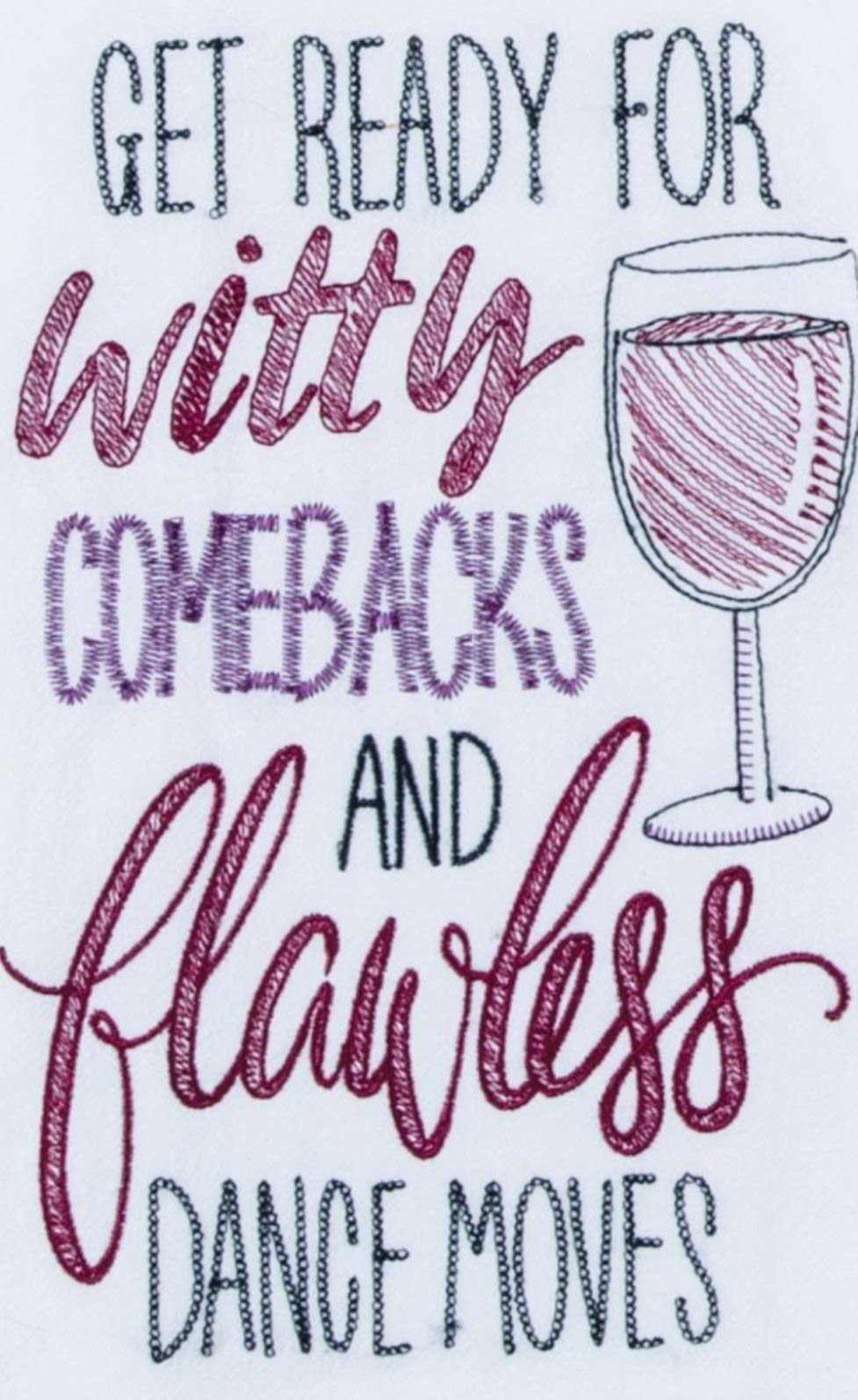 Witty Comebacks Wine Kitchen Towel