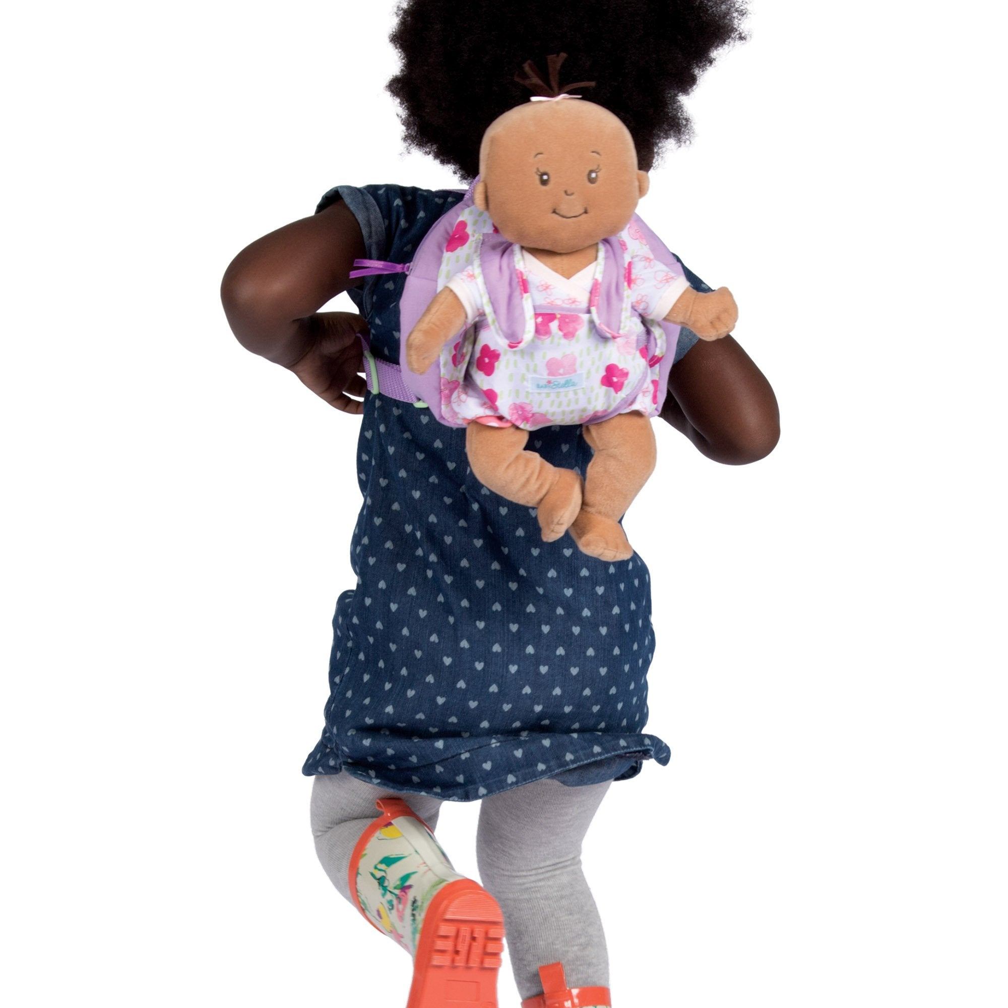 "Manhattan Toy Baby Stella Baby Doll Carrier and Backpack Baby Doll Accessory for 12"" and 15"" Soft Dolls"