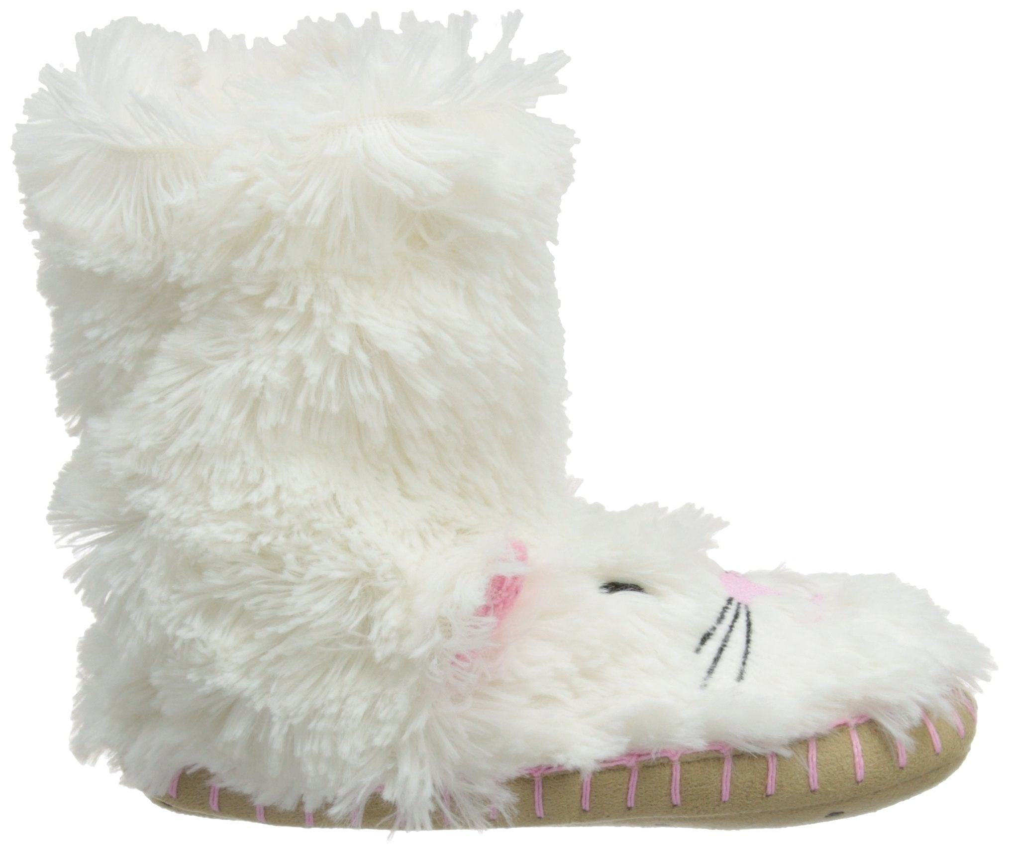 Little Blue House by Hatley Kids' Big Hi-top Slouch Animal Slipper, cat, X-Large (1-2)