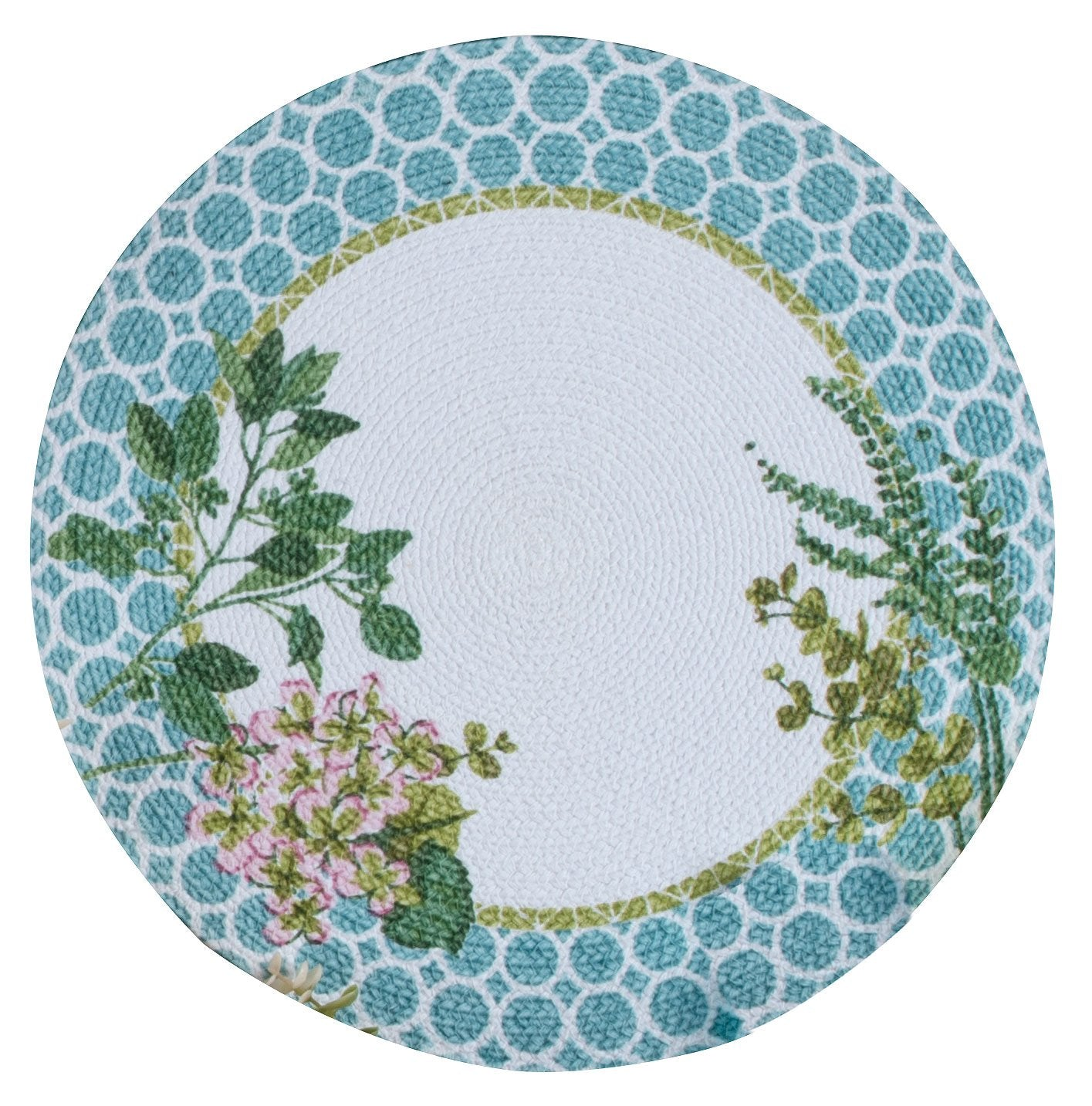 Kay Dee Greenery Braided Round Placemat