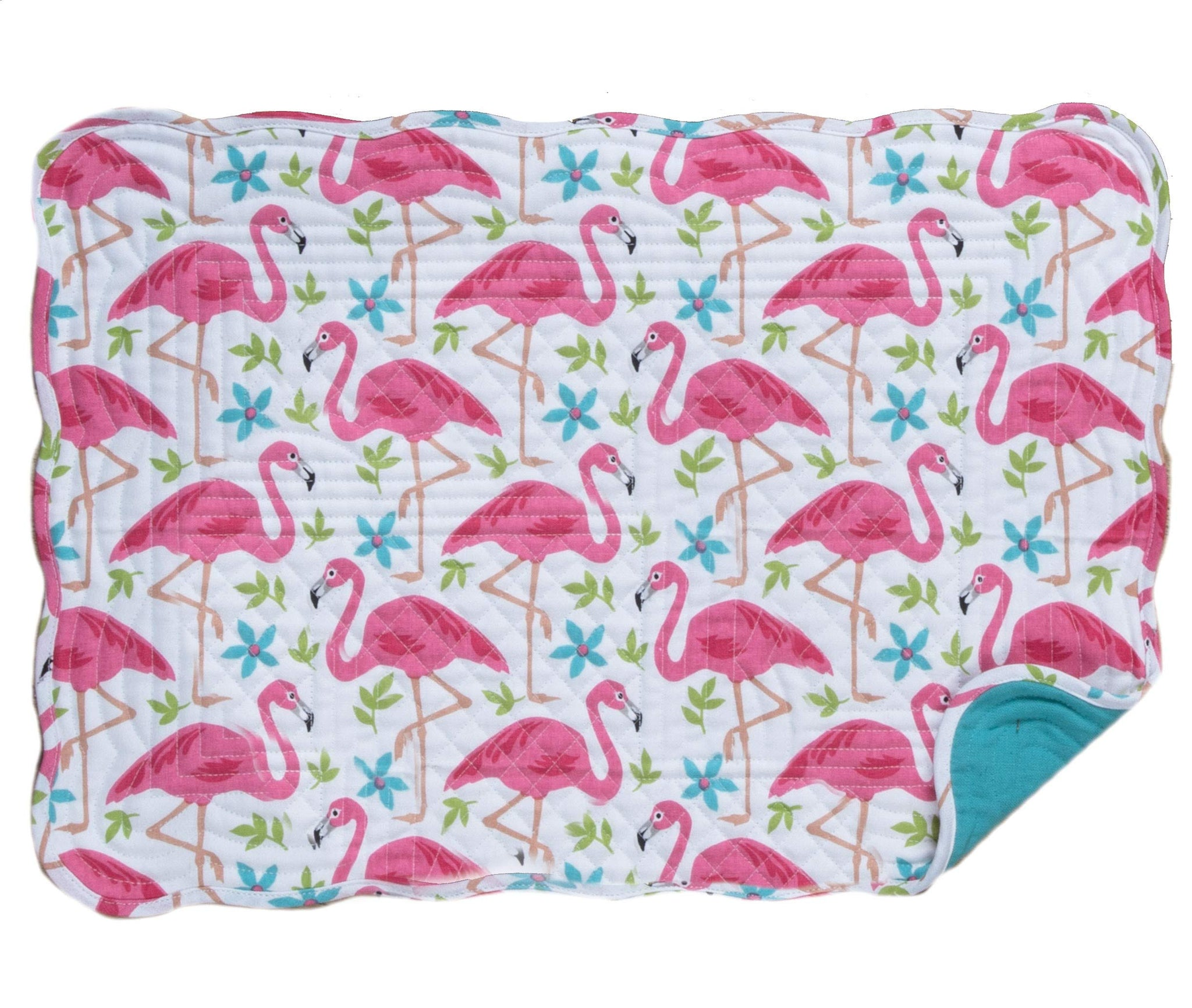 Kay Dee Designs Flamingo Quilted Placemat R4539 One Size White/Pink/Blue