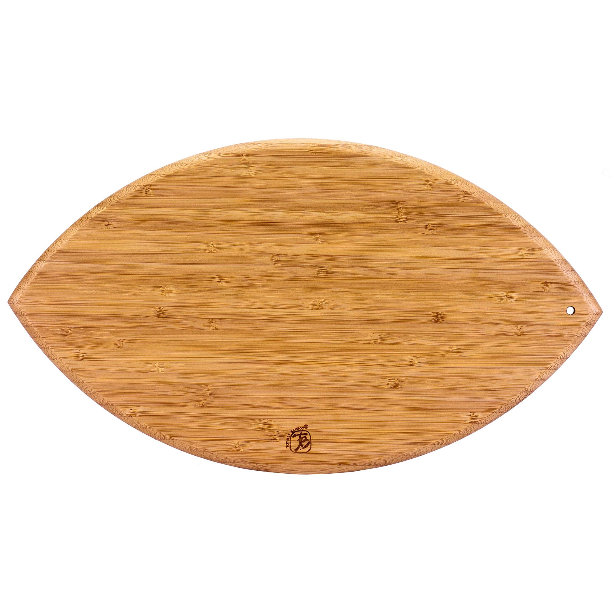 "Totally Bamboo Football Shaped Bamboo Serving and Cutting Board, 14"" x 8-1/2"""