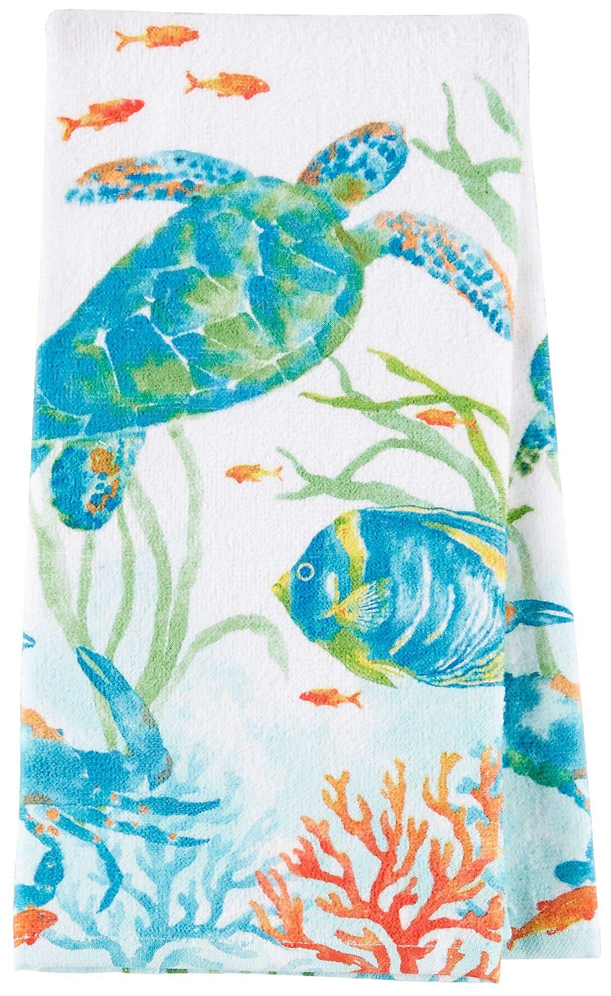 "Kay Dee Designs Sea Splash Turtle Terry Kitchen Towel, 16"" x 26"", Various"