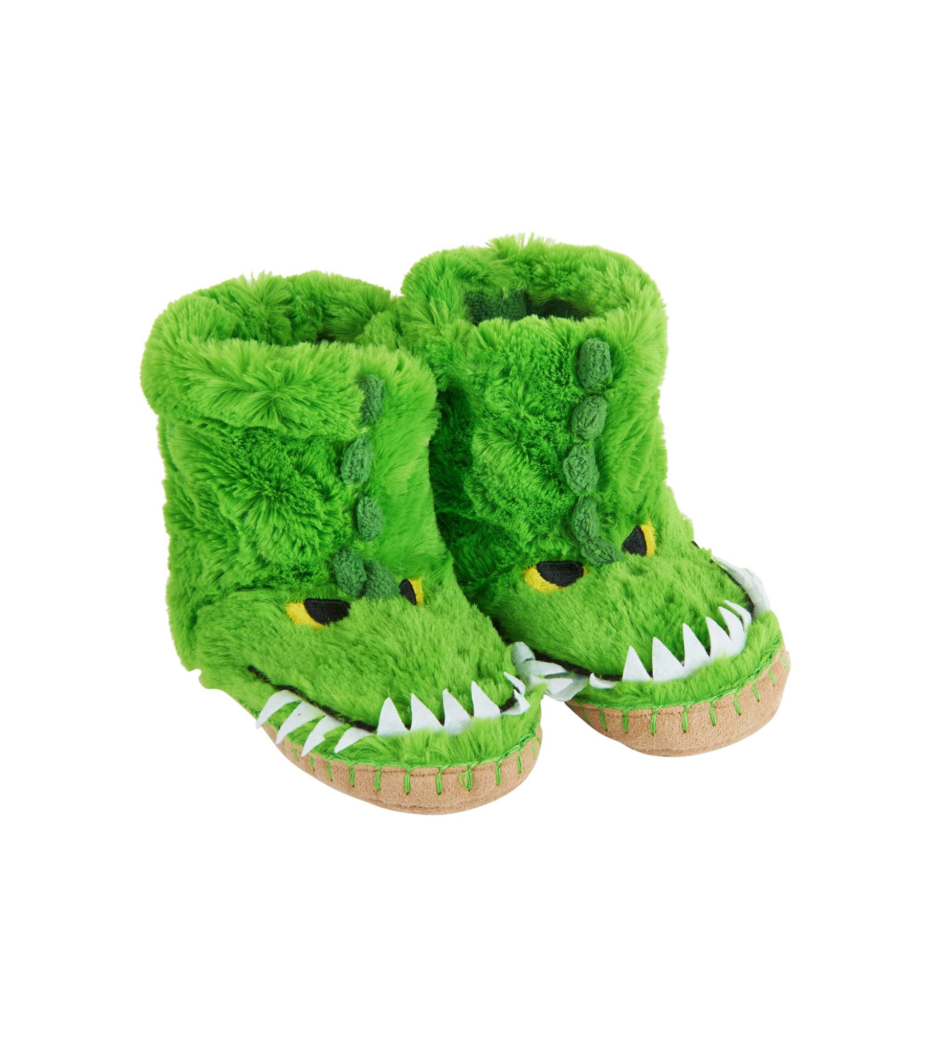 Hatley Little Boys' Kids Slouch Slipper-Gators, Green, Medium/8-10