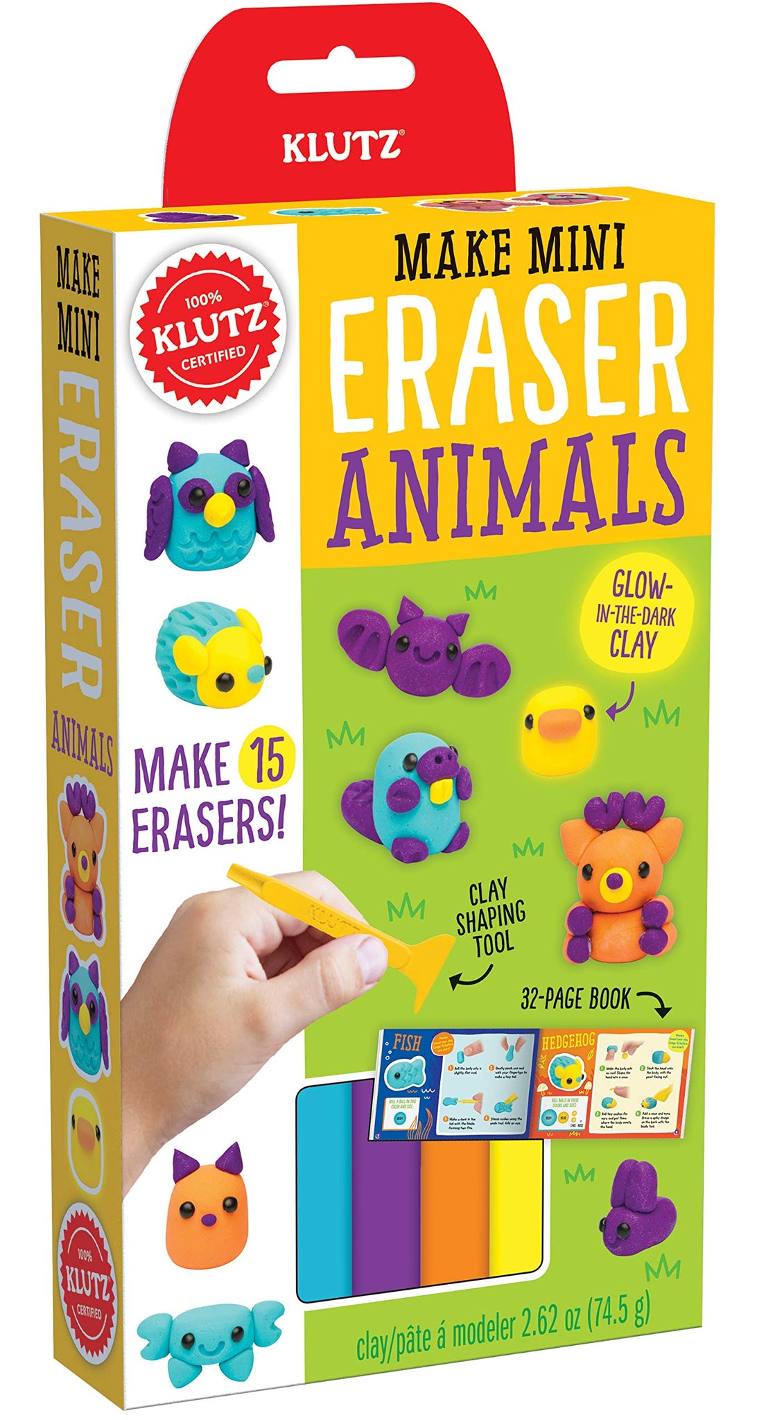 Klutz Make Mini Eraser Animals Craft Kit