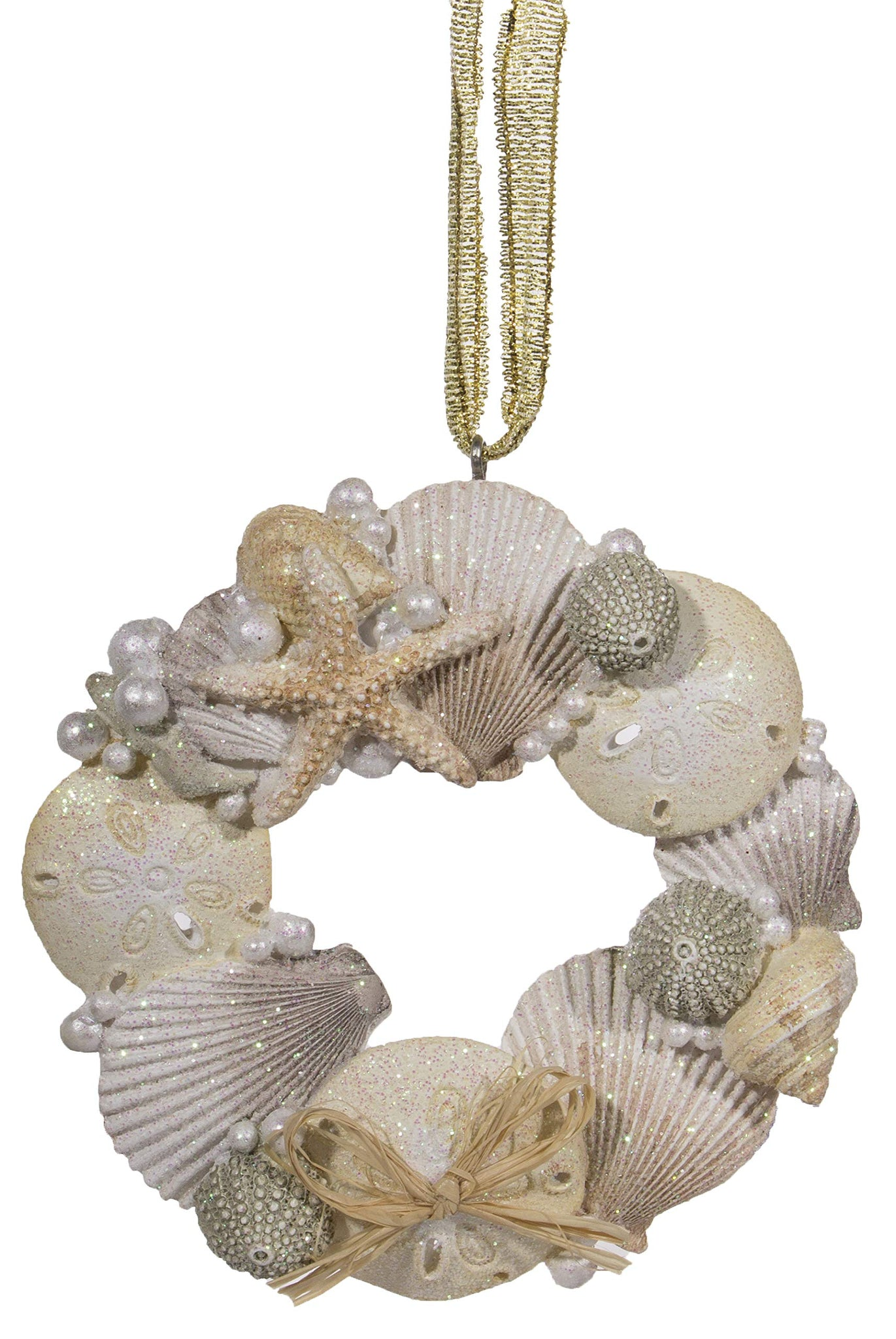 Cape Shore Resin Wreath w/Shells and Sea Life Ornament