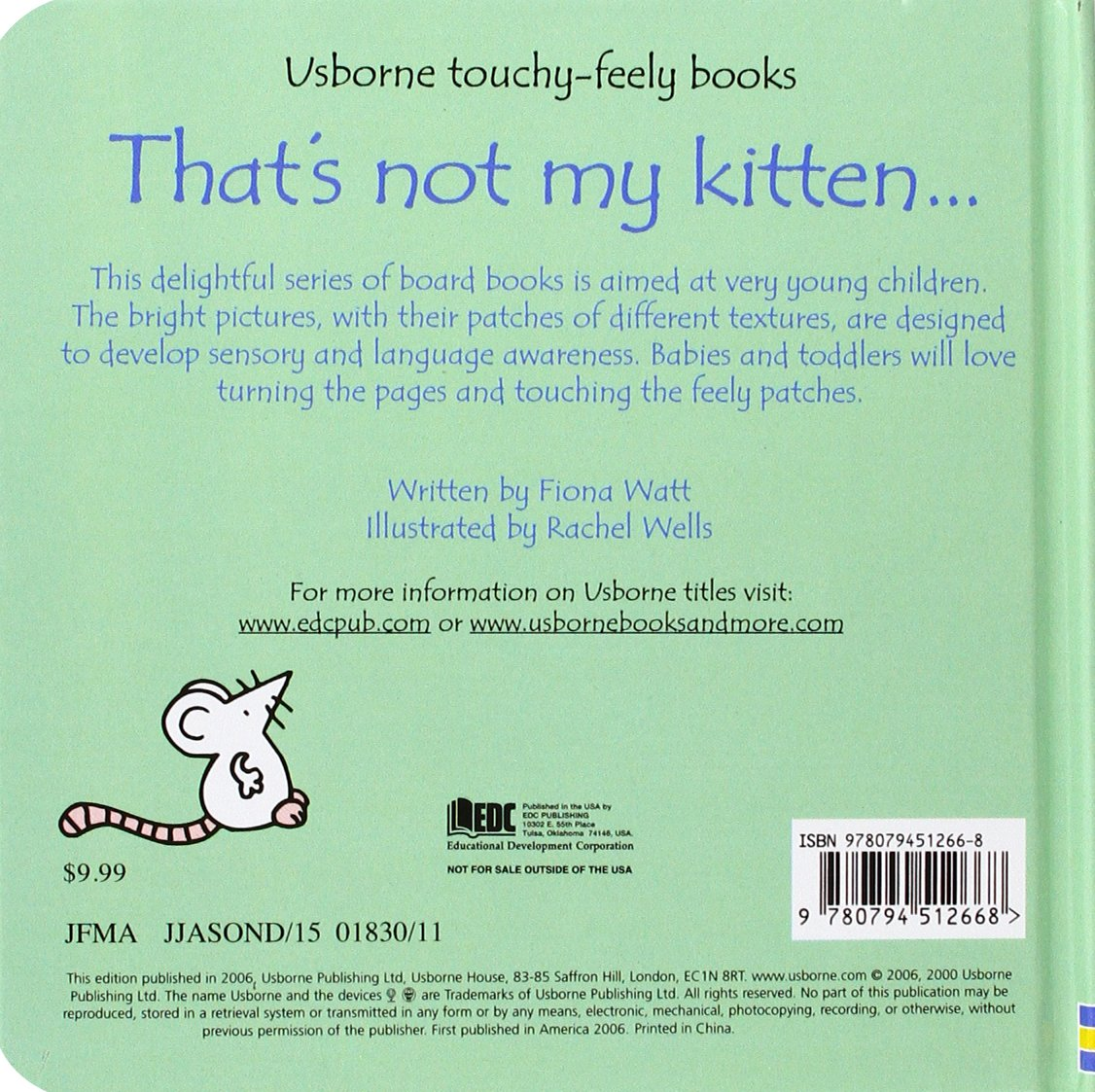 That's Not My Kitten... (Usborne Touchy-Feely Books)
