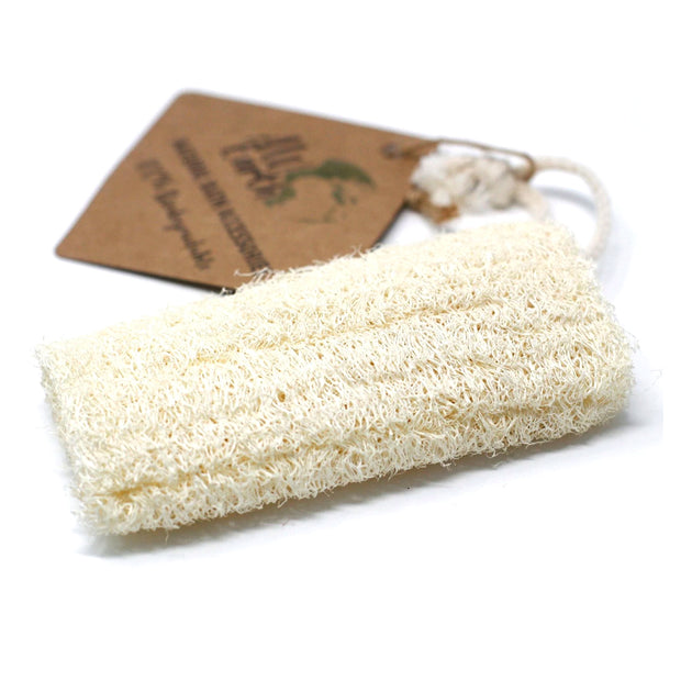 Natural Loofah Body Scrub on Rope