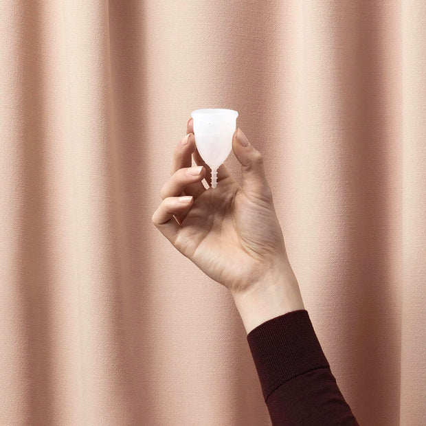 Reusable Transparent Silicone Menstrual Cup