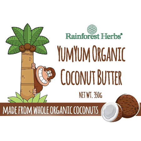 Rainforest Herbs YumYum Organic Coconut Butter