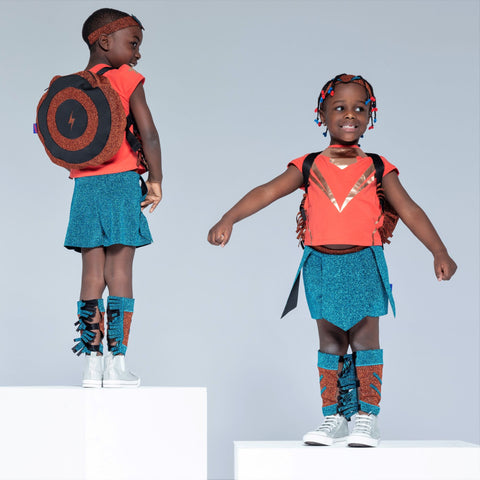 Children wearing hero kids clothes
