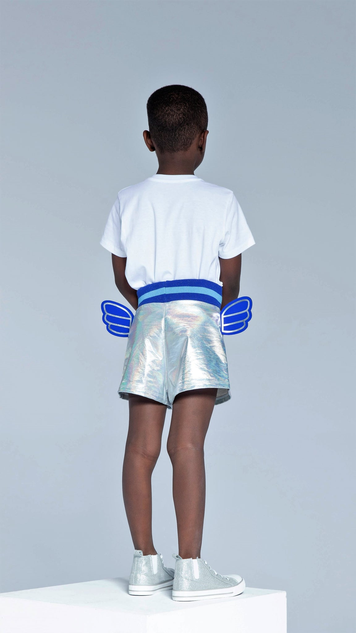 Twilight Rainbow Silver Shorts