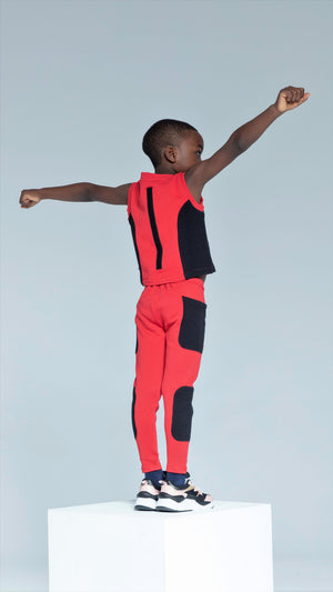 Sky Patroller Red and Black Pants