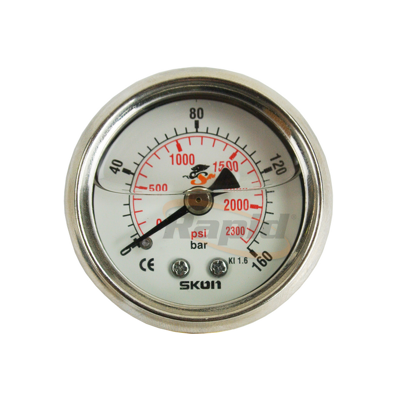 Pressure Gauge 40mm Rear Entry 0-315 Bar 1/4BSPP