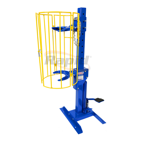 SPRING COMPRESSOR STAND WITH PROTECTOR