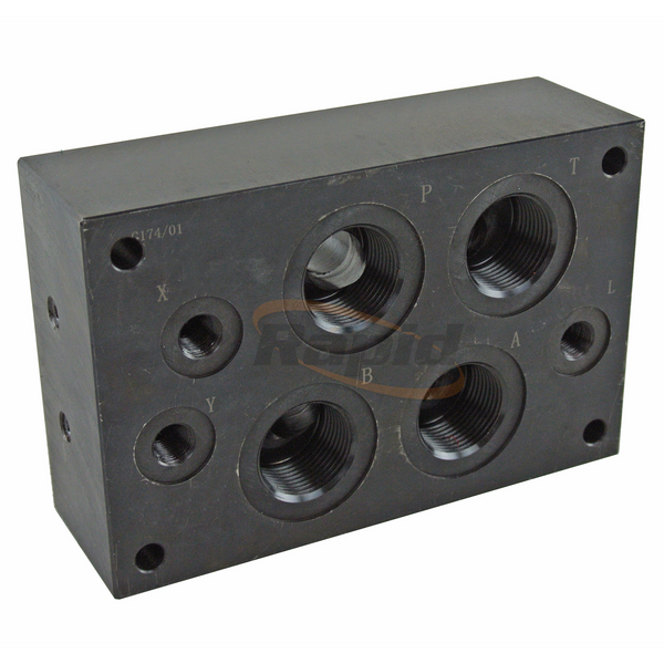 "Cetop 7 Subplate, Rear Ports, 1""BSPP"