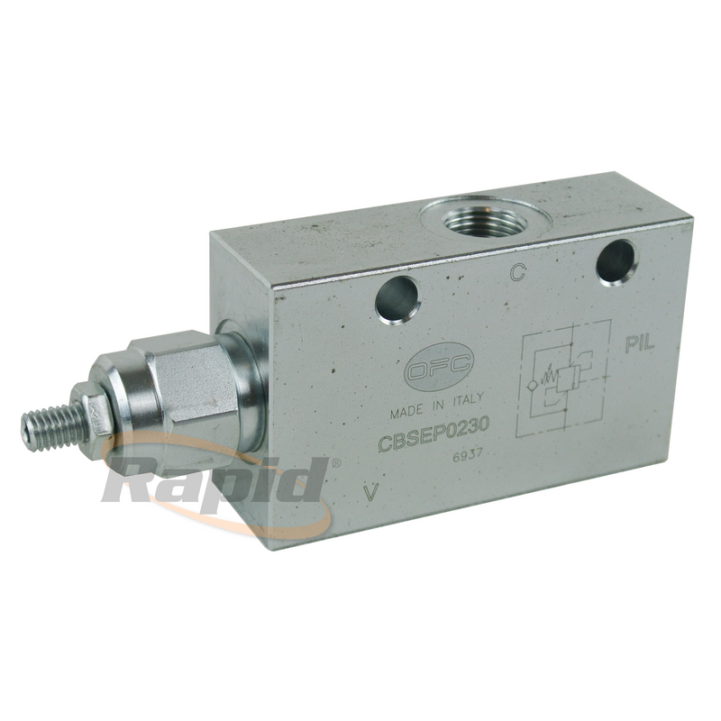 Single Counter Balance Valve 3 Port 1/2 100-350Bar