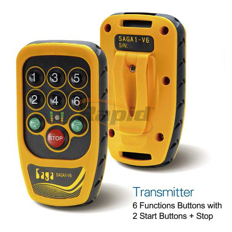 Wireless Remote Control 6 Button with Override Pad