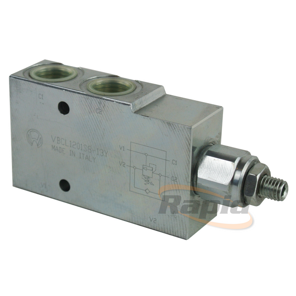 Counter Balance Valve, Single, 3/8, 4.25:1 Open Ct