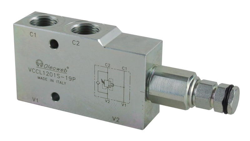 Counterbalance Valve, Single, Closed Ctr 30-210Bar
