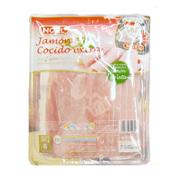 Jamon cocido lonchas lata, paquete 200 g