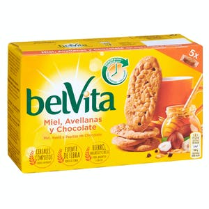 Galletas de cereales con miel, avellana y chocolate Belvita