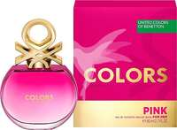 Colonia colors pink eau de toilette natural femenina Spray 80 mililitros