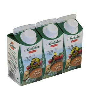 Gazpacho andaluz Hacendado 3 mini bricks x 330 ml