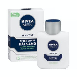 After shave bálsamo sensitive Nivea Men 0% alcohol anti-irritación Frasco 100 ml