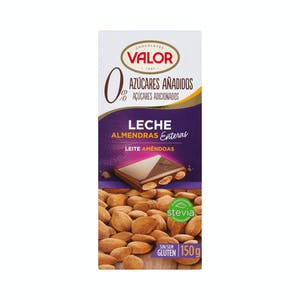 Chocolate con leche Valor almendras enteras 150 g