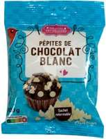 Pepitas de chocolate blanco  100 g.
