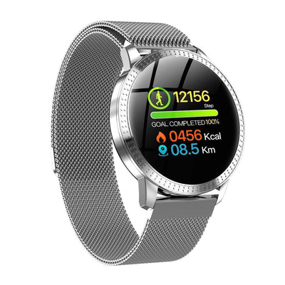 Smart Watch Blood Pressure Oxygen Fitness Tracker--Free Shipping CoolThingsPro Silver