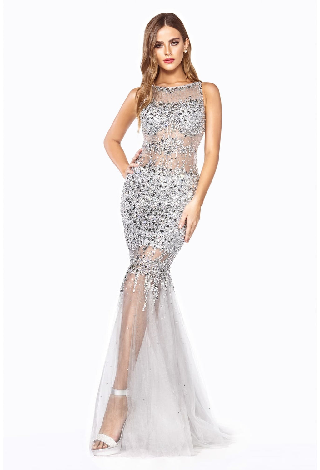 Fully Hand-Beaded Mermaid Fit & Flare Novelty Gown - KC Haute Couture Wedding Dress
