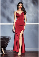 Fitted sweetheart neckline gown with leg slit and open back - KC Haute Couture Wedding Dress