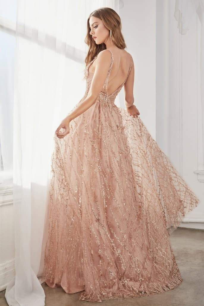Ball gown with layered tulle and glitter lace print - KC Haute Couture Wedding Dress