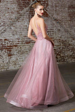 A-line gown with embellished bodice and layered tulle skirt - KC Haute Couture Wedding Dress