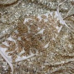 BEADED FLORAL ANTOINETTE FASHION MASK- GOLD - KC Haute Couture Wedding Dress