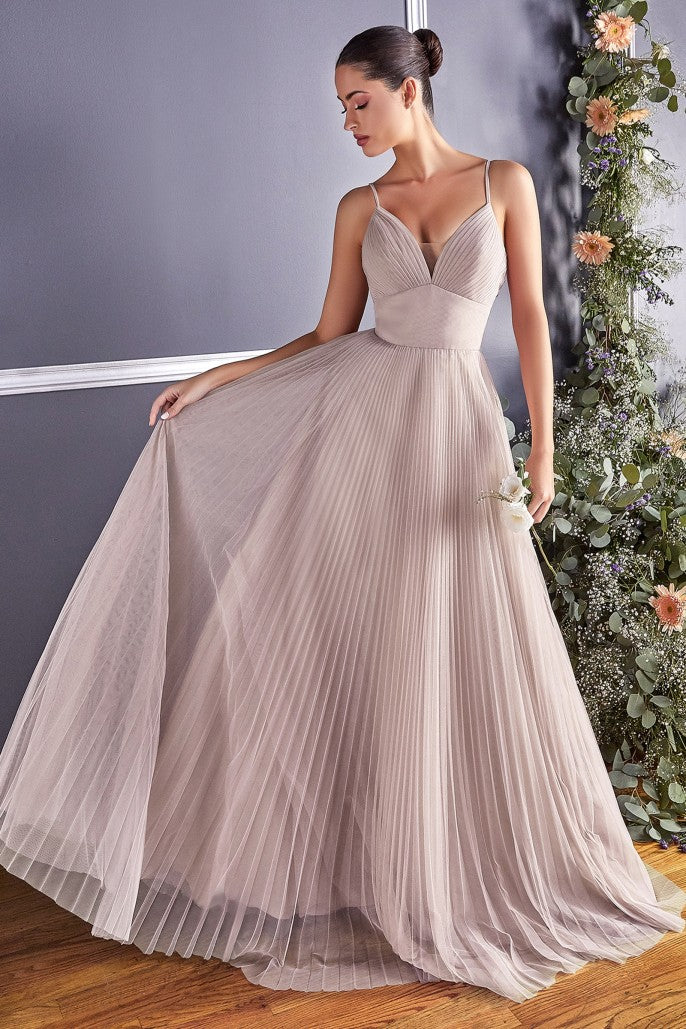 A-line tulle dress with gathered sweetheart neckline and pleated finish - KC Haute Couture Wedding Dress