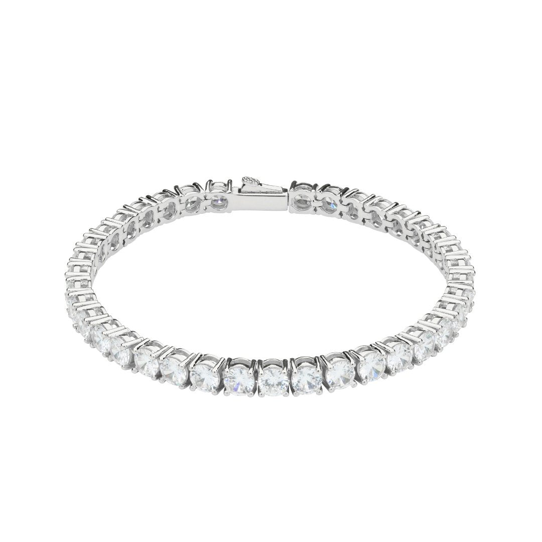 5mm Tennis Bracelet - White Gold - IceTheGang