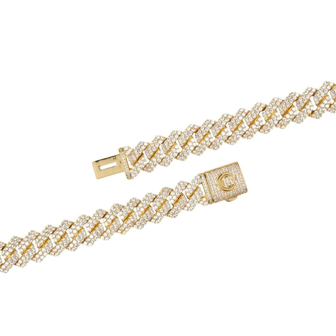 14mm Prong Link Chain Bundle - Gold - IceTheGang