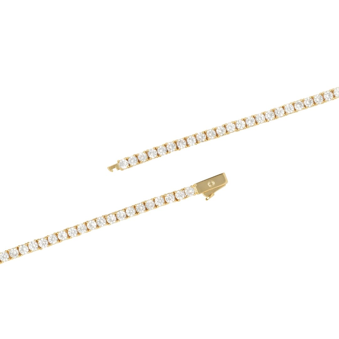 3mm Tennis Bracelet - Gold - IceTheGang