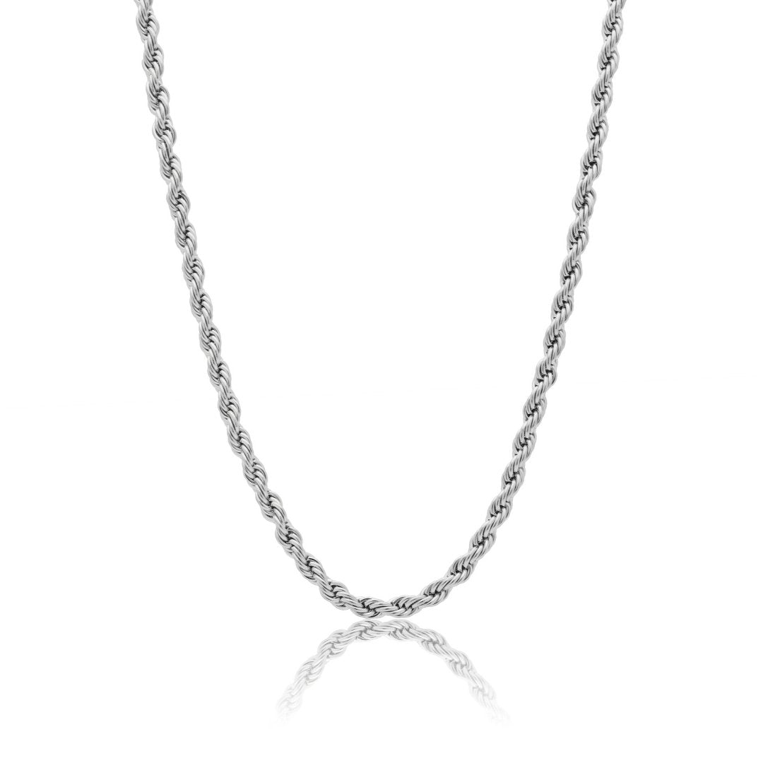5mm Rope Chain - White Gold - IceTheGang