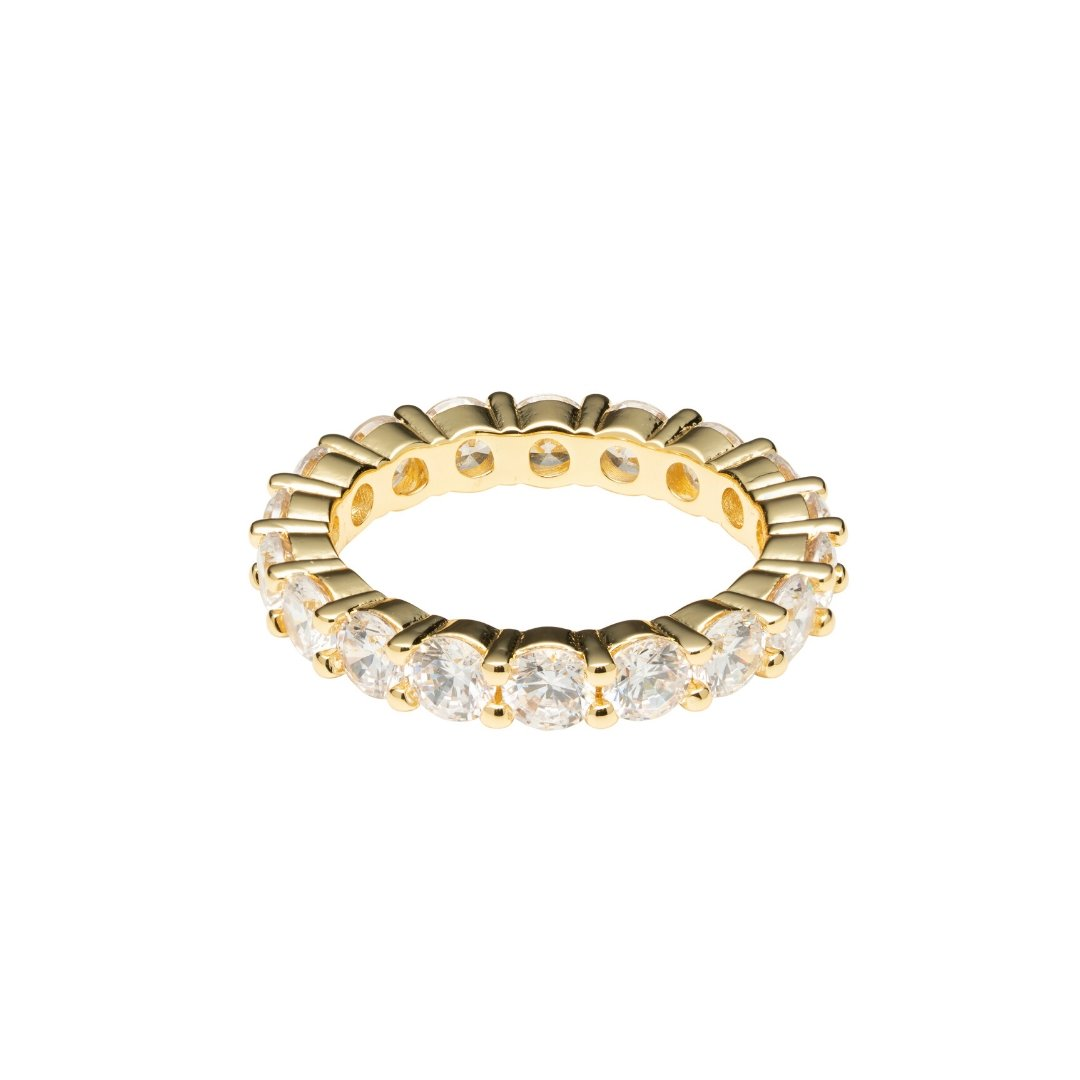 Single Row Diamond Ring - Gold - IceTheGang