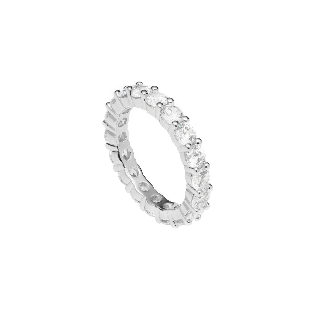 Single Row Diamond Ring - White Gold - IceTheGang