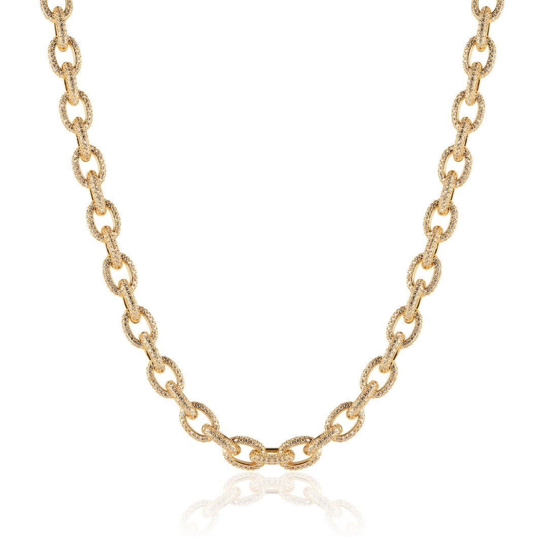 10mm Rolo Link Chain - Gold - IceTheGang