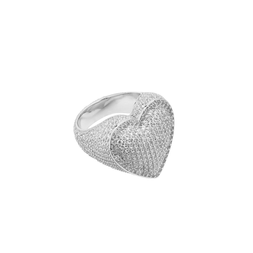 Heart Ring - White Gold - IceTheGang