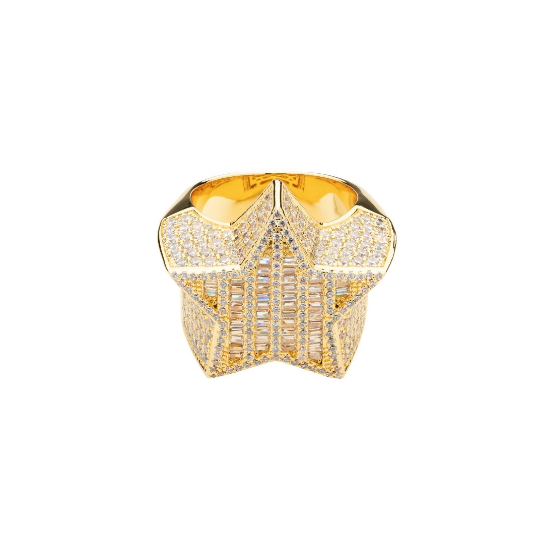 Baguette Star Ring - Gold - IceTheGang